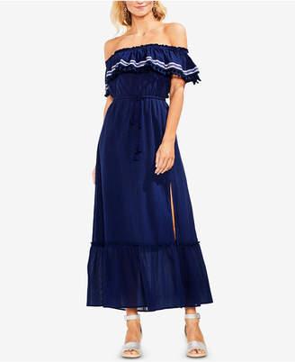 Vince Camuto Off-The-Shoulder Cotton Maxi Dress