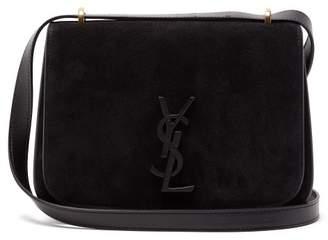 Saint Laurent Spontini Small Suede Bag - Womens - Black