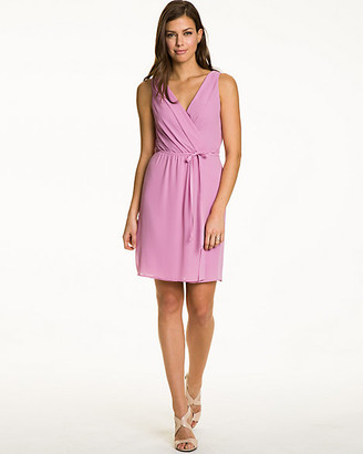 Le Château Woven Sleeveless Wrap Dress