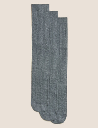 a5b99081ca4 Marks and Spencer 3 Pairs of Cable Knee High Socks