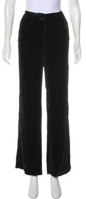 Jenni Kayne Velvet High-Rise Wide-Leg Pants