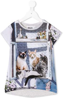 Molo city cat print T-shirt