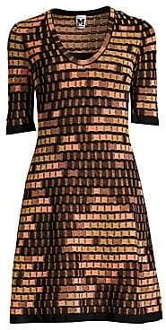 M Missoni Women's Textured Metallic Knit Flare Dress