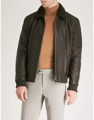 Corneliani ID shearling flight jacket