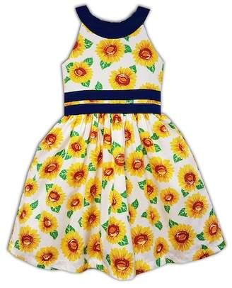 Joe-Ella Sunflower Print Dress (Little Girls & Big Girls)