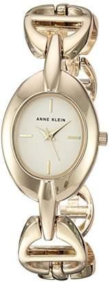 Anne Klein Women's AK/3122CHGB -Tone Open Link Bracelet Watch