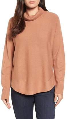 Eileen Fisher Draped Turtleneck Sweater (Regular & Petite)