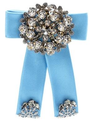 Dolce & Gabbana Crystal-embellished Silk-satin Brooch