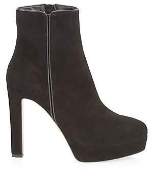 Aquazzura Women's Quant Platform Suede Ankle Boots