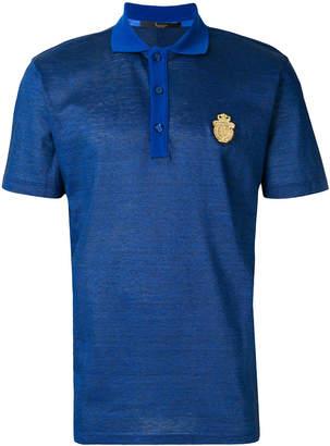 Billionaire crest patch polo shirt