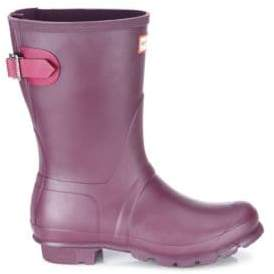 Hunter Women's Original Short Rubber Rain Boots - Black - Size 5