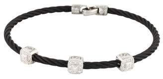 Charriol 18K Diamond Celtic Noir Station Bracelet