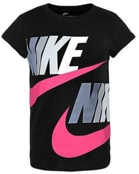 buy popular a826a 6c0ea Nike Little Girl s Juvenile Futura Split Cotton Tee