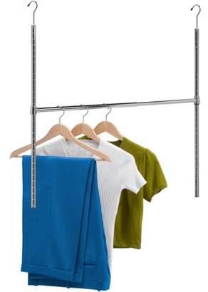 Honey-Can-Do Adjustable Hanging Closet Rod, Chrome