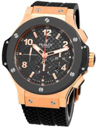 "Hublot Big Bang"" Chronograph 18K Rose Gold & Ceramic Mens Watch"