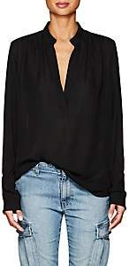 Nili Lotan Women's Colette Silk Georgette Blouse-Black