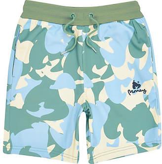 d2379263ef49 River Island Boys yellow Money camo jersey shorts