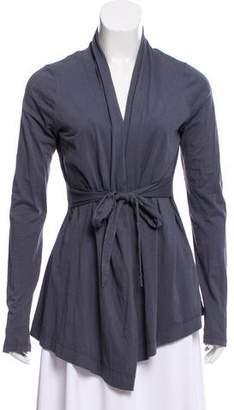 Velvet Long Sleeve Belted Cardigan