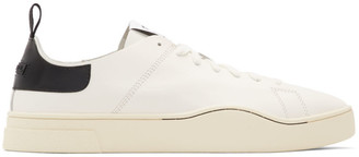 Diesel White and Black S-Clever LS Low Sneakers