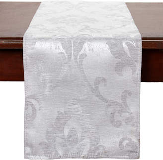 Dainty Home Silver Belmare Table Runner