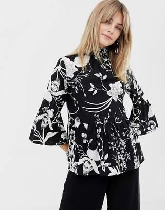 Vero Moda high neck smock blouse