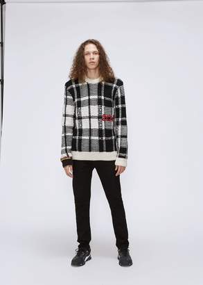 Calvin Klein Plaid 205 Crewneck Sweater