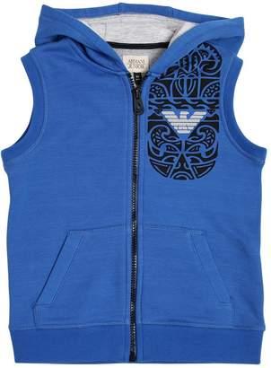 Armani Junior Tattoo Hooded Cotton Sweatshirt Vest