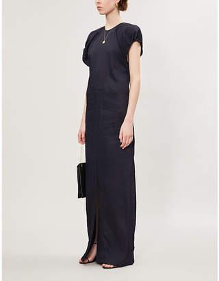 Jil Sander Laurie puff-sleeved crepe maxi dress