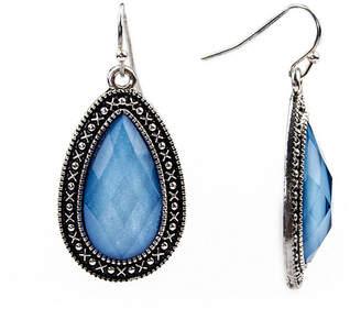 Arizona Blue Silver-Tone Teardrop Earrings
