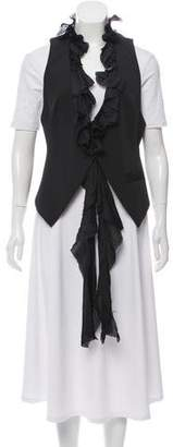 Elizabeth and James Ruffle-Accented Button Up Vest