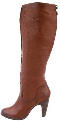Frye Leather Round-Toe Boots w/ Tags