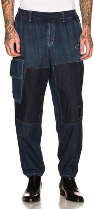 Yohji Yamamoto Patch Denim Pants