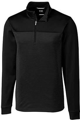Cutter & Buck Men's Double Knit Drytec 50+ UPF Traverse Stripe Half Zip Pullover