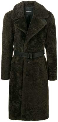 Neil Barrett belted long coat