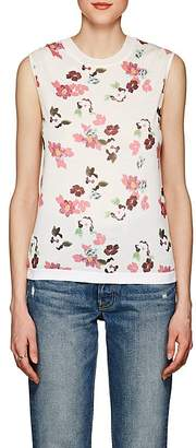 Thom Browne WOMEN'S FLORAL WOOL SLEEVELESS SHELL