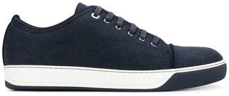 Lanvin felt top cap sneakers