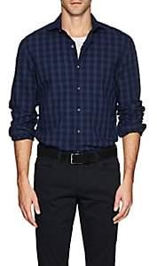 Barneys New York Men's Cotton Seersucker Shirt - Navy