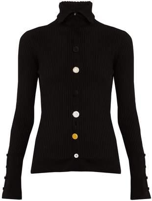 Button-embellished cardigan