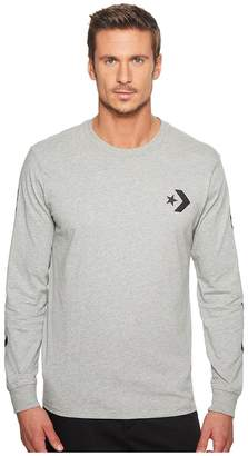Converse Star Chevron Wordmark Long Sleeve Tee Men's T Shirt