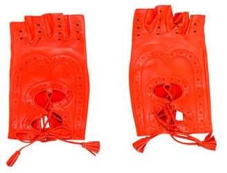 Hermes Perforated Fingerless Gloves