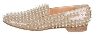 Christian Louboutin Patent Leather Pigalle Spike Loafers