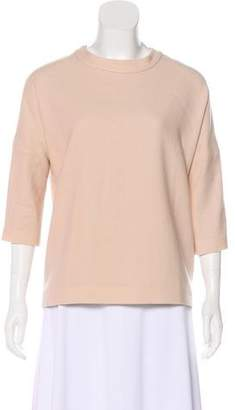 Goat Wool Short Sleeve Blouse