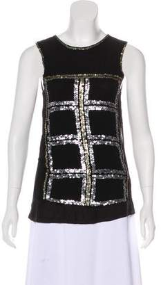T-Bags LosAngeles Tbags Los Angeles Sequined Sleeveless Top