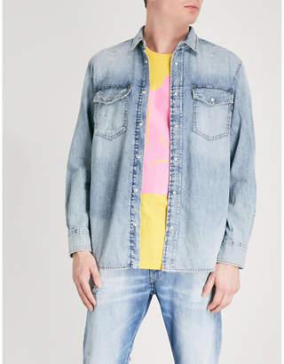 Diesel D-Rooke regular-fit faded denim shirt