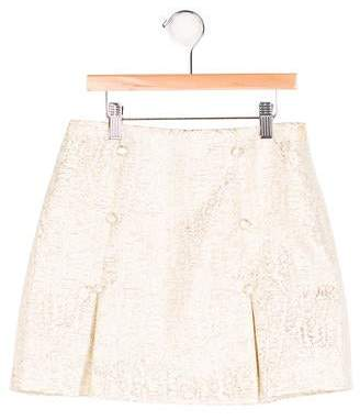 Rachel Riley Girls' Jacquard Pleated Skirt