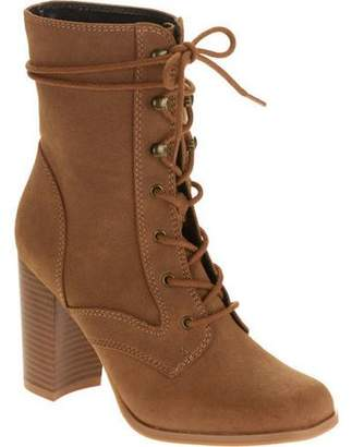 Mo Mo MoMo Women's Lace Up Block Heel Boot