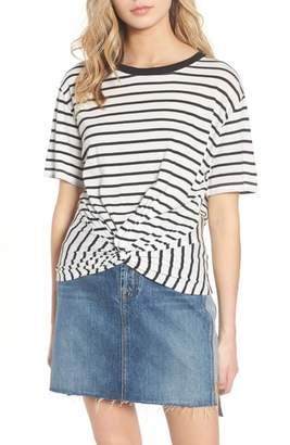 7 For All Mankind Stripe Knotted Tee