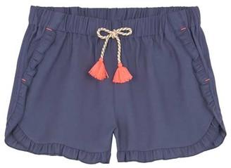Mint Velvet Blue & Neon Ruffled Short