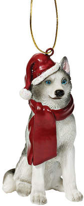 Toscano Design Siberian Huskey Holiday Dog Ornament Sculpture