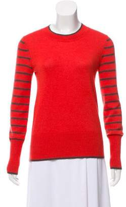 Lela Rose Rib-Knit Striped Sweater